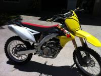 2013 Suzuki RMZ 450. This bike has very low hours on