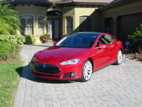 2013 Tesla Model S P85 Performance Rare Color  Red