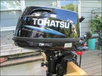 Offered right here is my 2013 Tohatsu 6hp Sail Pro