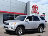 Clean CARFAX. Certified. Silver 2013 Toyota 4Runner SR5