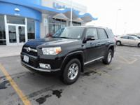 4WD, Black Cloth. Black 2013 Toyota 4Runner SR5 4WD