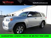 Silver 2013 Toyota 4Runner SR5 4WD 5-Speed Automatic