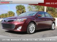 2013 Toyota Avalon Limited, *** 1 FLORIDA OWNER ***