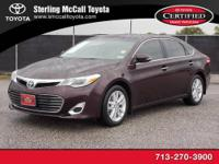 Sterling McCall Toyota presents this 2013 Toyota AVALON