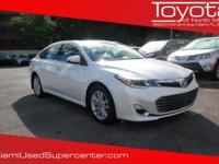 Options:  2013 Toyota Avalon Xle Premium|White/|V6 3.5L