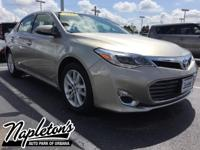 Recent Arrival! 2013 Toyota Avalon in Gold, AUX
