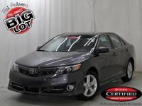 Camry SE, Toyota Certified, Magnetic Gray Metallic, and