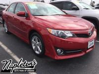 Recent Arrival! 2013 Toyota Camry in Red, AUX