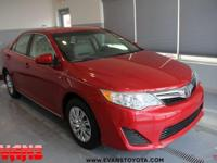 Clean CARFAX. Certified. RED 2013 Toyota Camry LE FWD