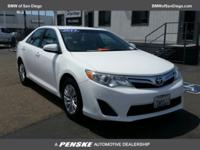 New Price! CARFAX One-Owner. White 2013 Toyota Camry LE
