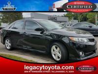 TOYOTA CERTIFIED, 4D Sedan, 6-Speed Automatic, Black,