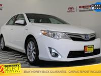 New Price! 2013 Toyota Camry Hybrid XLE Certification