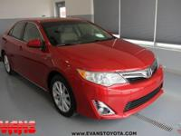 Certified. RED 2013 Toyota Camry XLE FWD 6-Speed