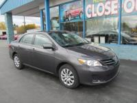 The 2013 Toyota Corolla provides a comfortable ride,