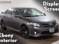 2013 Toyota Corolla S and K-Certified (2 years/100,000