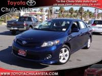 Practically NEW 2013 TOYOTA CERTIFIED COROLLA S with