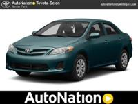 2013 Toyota Corolla Our Location is: AutoNation Toyota