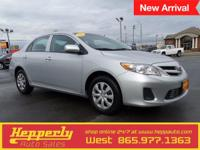 Clean CARFAX. This 2013 Toyota Corolla in Silver