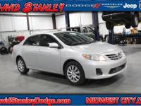 Clean CARFAX. Silver 2013 Toyota Corolla LE FWD