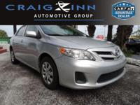 New Arrival! This 2013 Toyota Corolla CL will sell fast