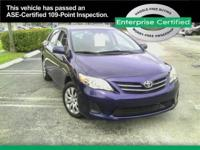 2013 Toyota Corolla Le Our Location is: Enterprise Car