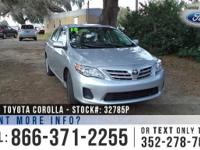 2013 Toyota Corolla LE. Features: Warranty - Steel