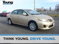 CARFAX One-Owner. Clean CARFAX. Tan 2013 Toyota Corolla