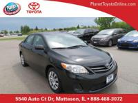 Recent Arrival! 2013 Toyota Corolla LE Black ABS