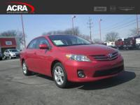 Used 2013 Toyota Corolla, stk # 17430, key features