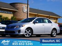 2013 Toyota Corolla in Silver. Noteworthy. Pricing