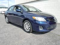 34/26 Highway/City MPG Clean CARFAX. 2013 Toyota