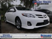 LOW MILEAGE 2013 TOYOTA COROLLA S**ONE OWNER**LOCALLY