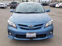 Options:  2013 Toyota Corolla S|Blue|Carfax One-Owner.