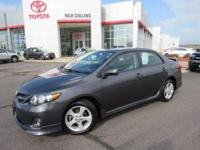 This 2013 Corolla comes equipped with power windows,