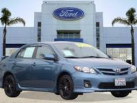 Options:  2013 Toyota Corolla S|Blue/|V4 1.8L