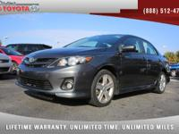 2013 Toyota Corolla S, *** 1 FLORIDA OWNER *** CLEAN