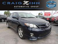 This Toyota Corolla is CERTIFIED! Low miles for a 2013!