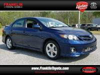 Corolla S, 4-Speed Automatic, and Blue. Right car!
