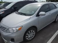 Recent Arrival! 2013 Toyota Corolla LECARFAX One-Owner.