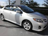 TOYOTA CERTIFIED! This 2013 Toyota Corolla S
