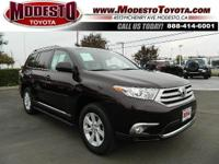 For a touch of Drama ... This 2013 Toyota Highlander