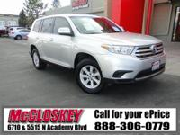 2013 Toyota Highlander! This is the SUV for you and