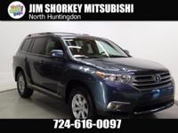 2013 Toyota Highlander Base Plus V6 New Price! CARFAX