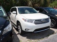 CARFAX One-Owner. Silver 2013 Toyota Highlander Base