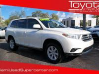 Options:  2013 Toyota Highlander|Blizzard Pearl/|V4