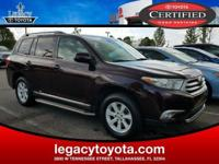 Clean CARFAX. TOYOTA CERTIFIED, LEATHER, Highlander