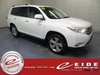 2013 Toyota Highlander Limited AWD***Blizzard Pearl