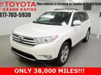 Certified. Blizzard Pearl 2013 Toyota Highlander