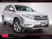 Options:  2013 Toyota Highlander Limited|Silver Bullet!