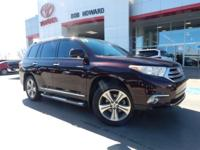 We are excited to offer this 2013 Toyota Highlander.